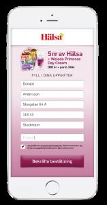 LINK Mobilitys mobiltjänst som förifyller uppgifter för tidningen Hälsa