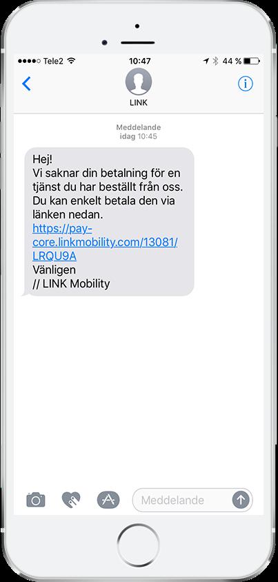 Säkra betalningar med LINK Mobilitys Mobilfaktura, steg 1