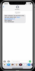 SMS-kommunikation - skönhetssalonger