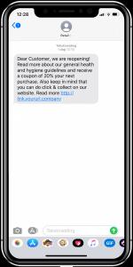 SMS-kommunikation och marknadsföring - återförsäljare