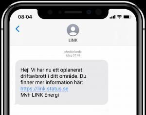 SMS-kommunikation inom energibranschen - driftavbrott